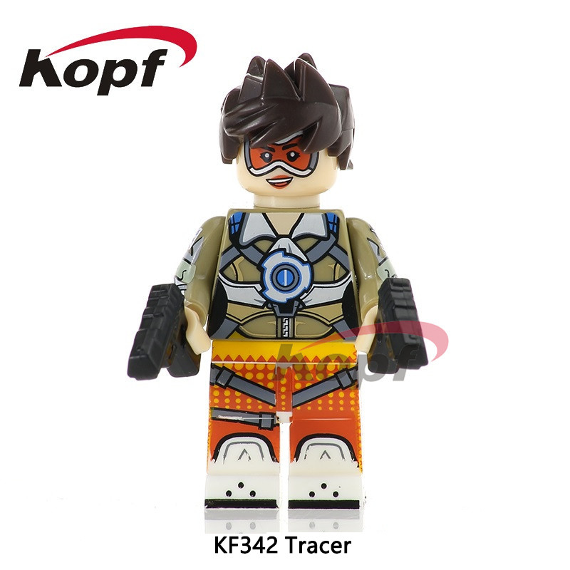 Single Sale Super Heroes Tracer Elvis Aron Presley The Flash Robocop He-Man Faker Building Blocks Best Children Gift Toys KF342 building blocks super heroes back to the future doc brown and marty mcfly with skateboard wolverine toys for children gift kf197