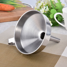 Functional Stainless Steel Kitchen Honey Funnel with Detachable Strainer/Filter for Perfume Liquid Water Tools kitchen funnel(China)