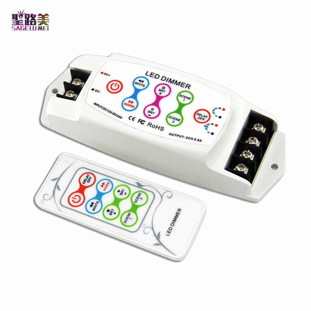 BC 310RF CV 2channel constant current DC 12V 24V Color temperature CT led controller wireless led rf dimmer for 5050 led tape