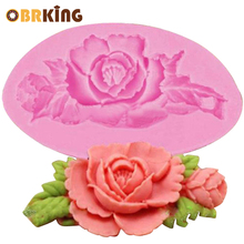 OBRKING  Silicone 3D Rose Baking Mold Forms Fondant Cake Chocolate Soap Sugar Craft Mould DIY Cupcake Pastry Tools Bakeware