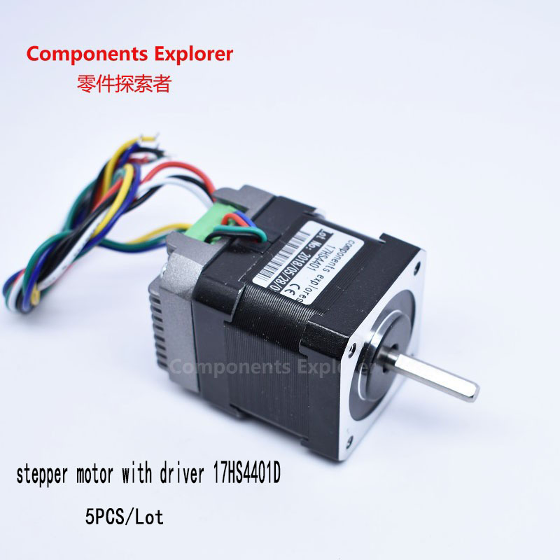 Promotion!!!Nema17 Stepper Driver Motors ,Stepper Motors with the drivers,5pcs/lot 3 phase screw motors drivers frequency stepping driver