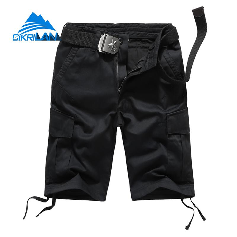 2019 Summer Mens Multi-pocket Outdoor Sport Climbing Hiking Short Trousers Combat Military Tactical Shorts Men Trekking Bermudes