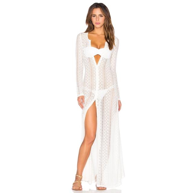 b6e2d7444 Pregnant Women Bathing Suit Cover Ups Saida De Banho Para Praia Longa Renda  Chiffon Plus Size Swimwear Bikini Cover Ups