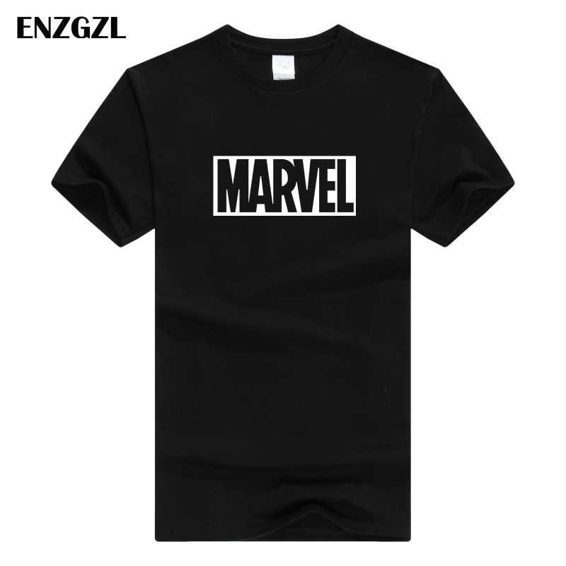 ENZGZL 服の夏の tシャツメンズマーベル綿 100% 半袖 Tシャツタイトな男性の Tシャツラウンドネック Xs SM L XL ストリート