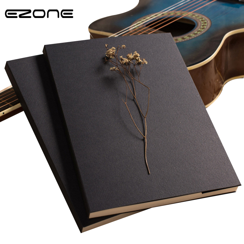 EZONE 1PC Kraft Paper Notebook With Blank Paper Creative Sketch Book Kids Gift Korean Stationery School Supplies Free Shipping ruize soft cover leather traveler notebook blank kraft paper note book a7 a6 creative travel journal diary school supplies