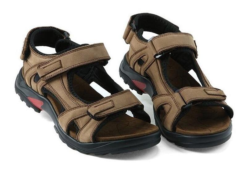 Pic Ar Qianruiti Com Da Gancho Ao skid Sapatos Marrom E as Sandálias Tira Gladiador De Plana Espessura Praia Livre Anti Homens Laço Tornozelo Verão Do No 0wqF41