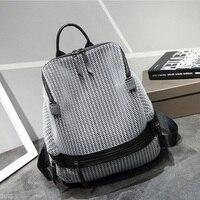 New Design Mesh Breathable Women Backpack For Teenage Girls Patchwork Casual School Backpack Female Nylon Rucksack Ladies Bag