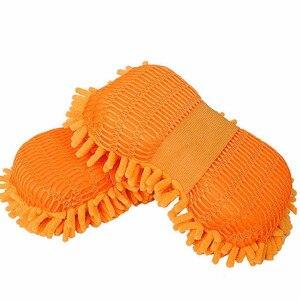 Image 2 - Microfibra esponja de lavado de coche limpieza cuidado del coche detalles cepillos Toalla de tela para lavado guantes de auto estilismo accesorios de lavado