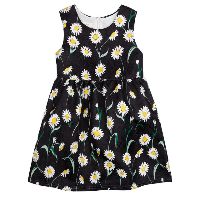 439c32636009 Fashion Brand Flower Girls Dress 1pc Floral Girls Clothes Sleeveless ...