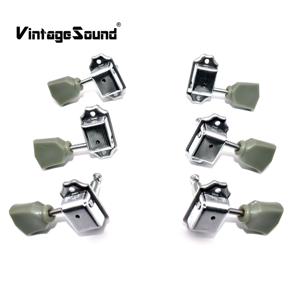 Tuning Pegs Chrome Vintage Deluxe Guitar Strings Grover Keys Tuner Machine Heads 3L 3R for LP Electric Guitar Parts Accessories 2 pc per set high end classical guitar tuning pegs machine heads black color up grade parts