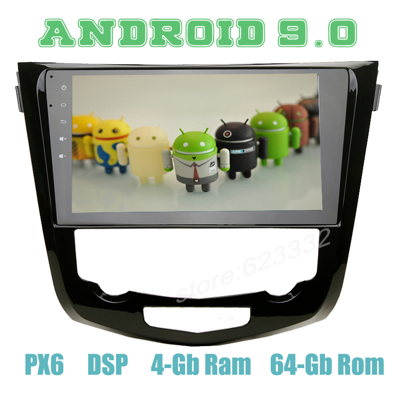 for nissan X trail Qashqai Rogue 2014 2018 PX6 10 2 Android 9 0 Car GPS