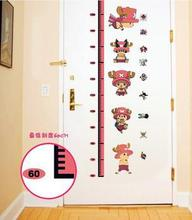 Creative New Cartoon Art height wall stickers Japan Anime ONE PIECE CHOPPER Kids Nursery Home decor Mural tattoos Removable *