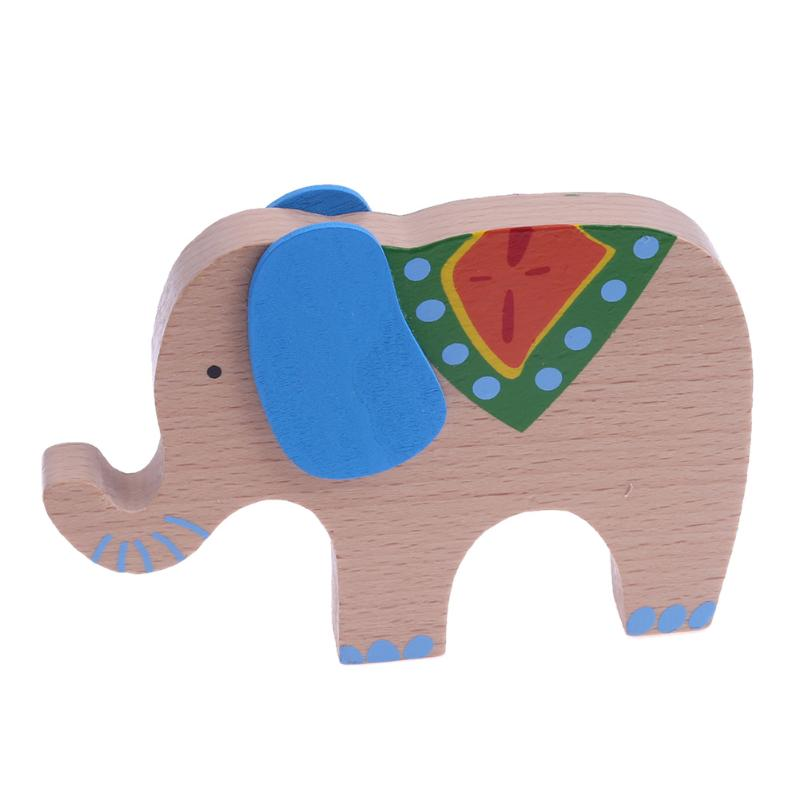 Elephant Color Rod Balance Beam Balancing Sticks Blocks Baby Wooden Toys Kids Cartoon Animal Montessori Educational Toy Gift
