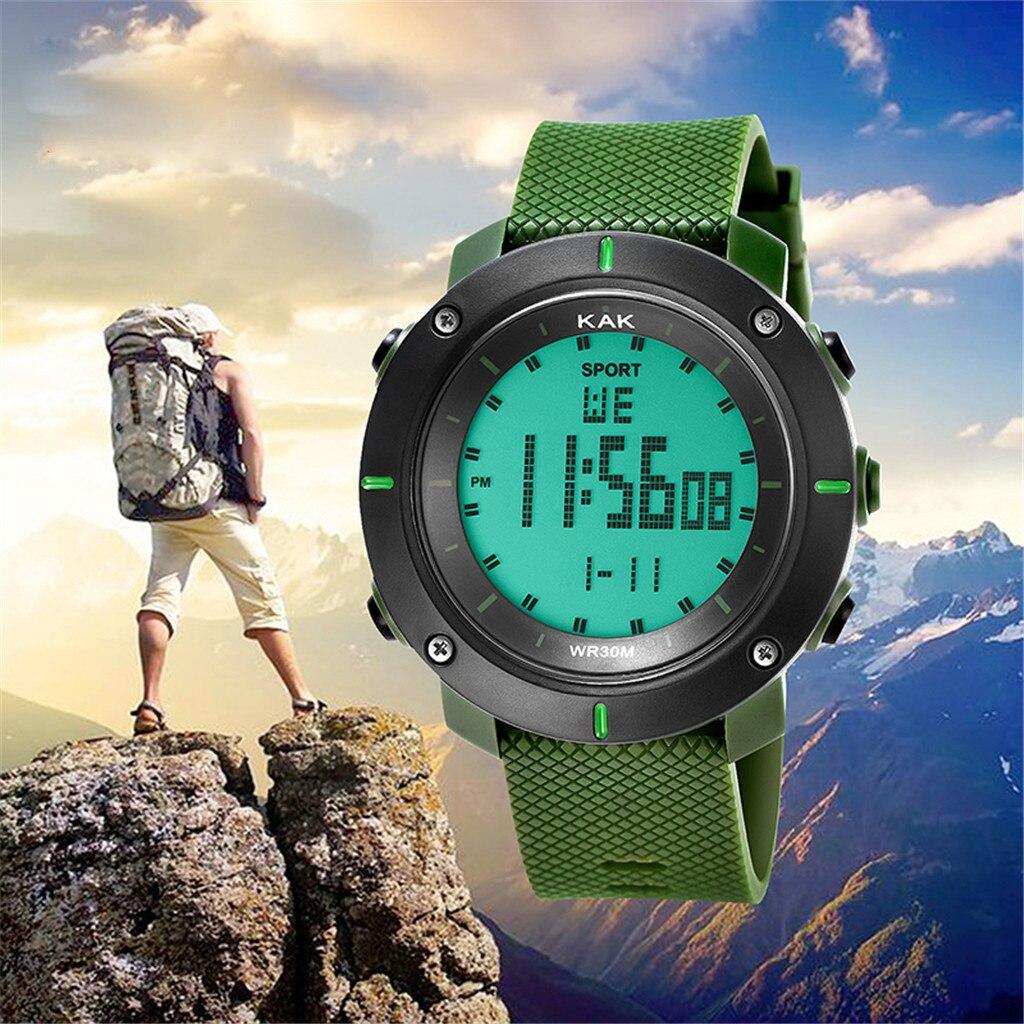 Digital Watch Wrist-Lumin Electronic Waterproof Men's Fashion 30M High-End Sport Gifts