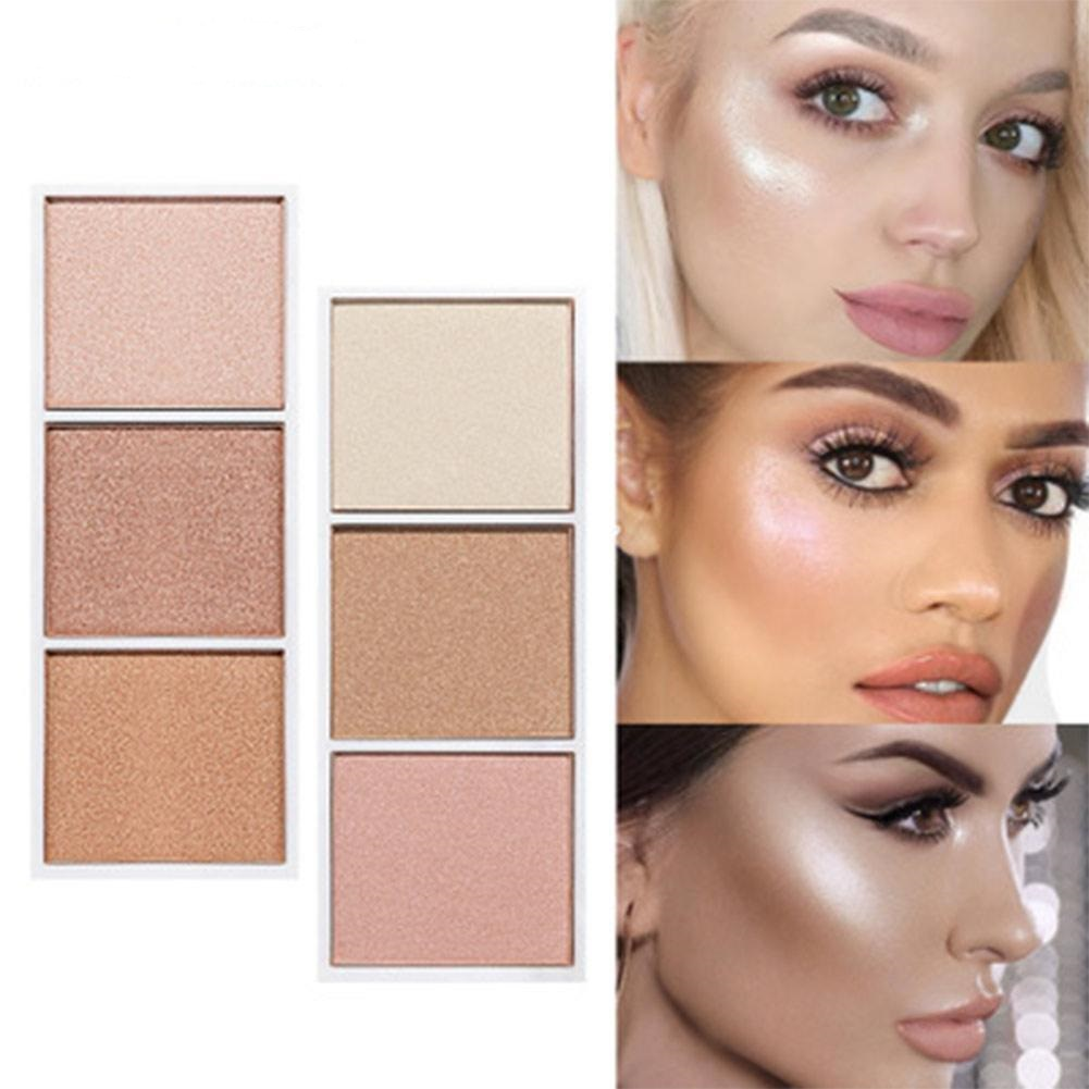 4 colors Highlighter Facial Bronzers Palette Makeup Glow Kit Face Contour Shimmer Powder Body Base Illuminator 5