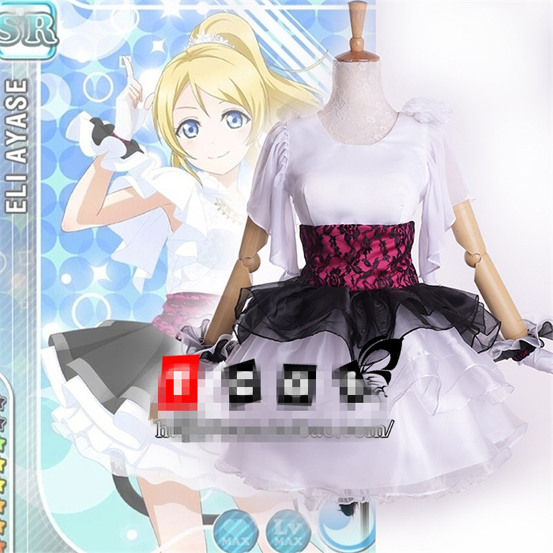 Anime Love Live Eli Ayase Concert Cosplay Costume Play White Suit love island live 14 00 17 00