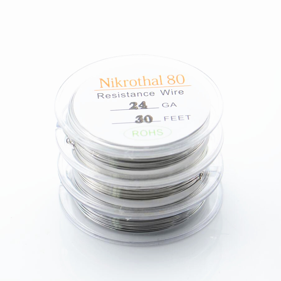 Hot 10m/roll Ni80 20/22/24/26/28GA Nichrome resistance wire for RDA ...