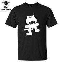여름 유명한 영화 멋진 문신 monstercat 브랜드 100% 면 캐주얼 남자 티셔츠 티셔츠 티 camisas 최고 o 목 짧은