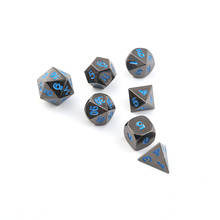 Rpg Dobbelstenen Dnd Polyhedral Sets Metalen Dungeons And Dragons Zinklegering Blauwe Digitale Dices Patroon Tafel Games D20 10