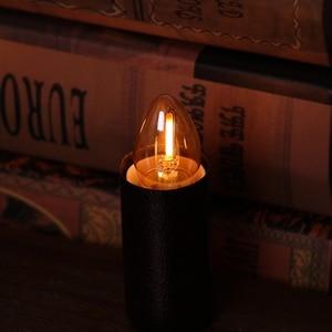 Image 2 - GANRILAND Led E14 عكس الضوء الذهب البسيطة أنبوبي الثريا ليلة مصباح 0.5 W 1 W 2 W 4 W 2200K E14 220V  240V خمر LED مصابيح شعيرة