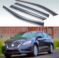 Для Nissan Sentra 2012 2013 2014 2015 пластиковый Наружный козырек тенты для окна Защита от солнца и дождя дефлектор