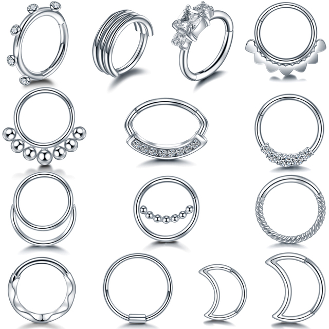 Кольца для пирсинга из нержавеющей стали 316l ювелирные украшения