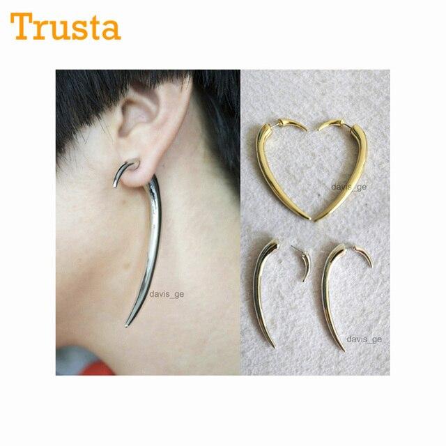 Trusta Fashion Jewelry Gold Silver Tone 2 5 Long Punk Spike Earring Stud Pretty For
