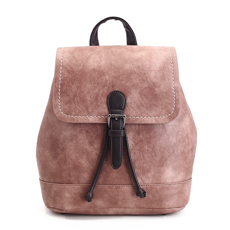 2017Hot Fashion Backpack Women Youth High Quality Leather Backpacks for Teenage Girls Female School Shoulder Bag Bagpack mochila vintage tassel women backpack nubuck pu leather backpacks for teenage girls female school shoulder bags bagpack mochila escolar