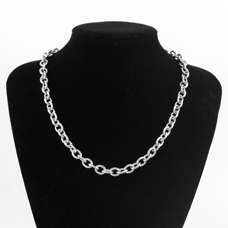 100% chaîne en acier inoxydable pour la fabrication de bijoux 4/6/8mm argent or métal Rolo lien chaîne au mètre Cadenas Por métros pas de fermoir 20m - 5