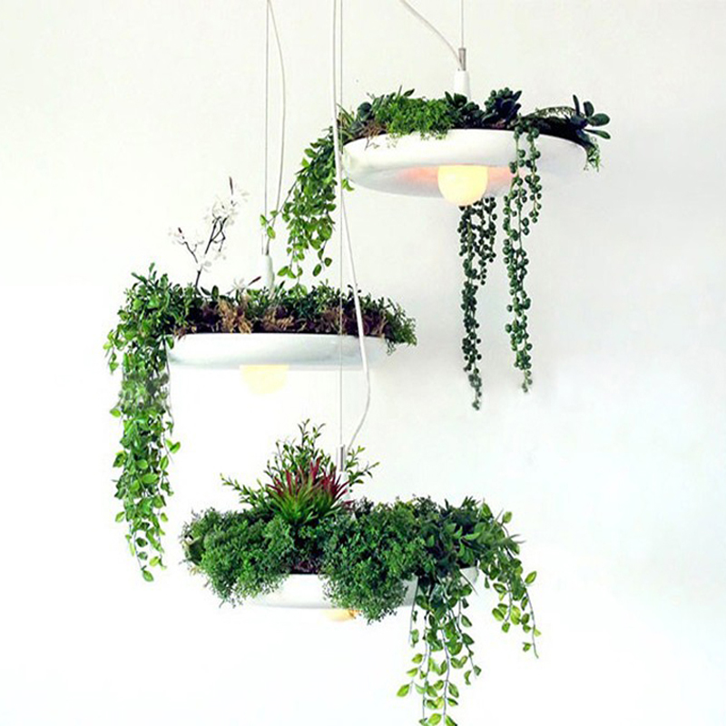 Hanging Air Garden E27 Pendant Lights White Aluminum Pendant Lamp Hanging Luminaire 110V 220V For Decor Lighting Light Fixture e cap aluminum 16v 22 2200uf electrolytic capacitors pack for diy project white 9 x 10 pcs