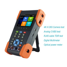 New 3.5 inch IPS touch screen H.265 4K IP CCTV tester Monitor with Optical power meter and digital multimeter