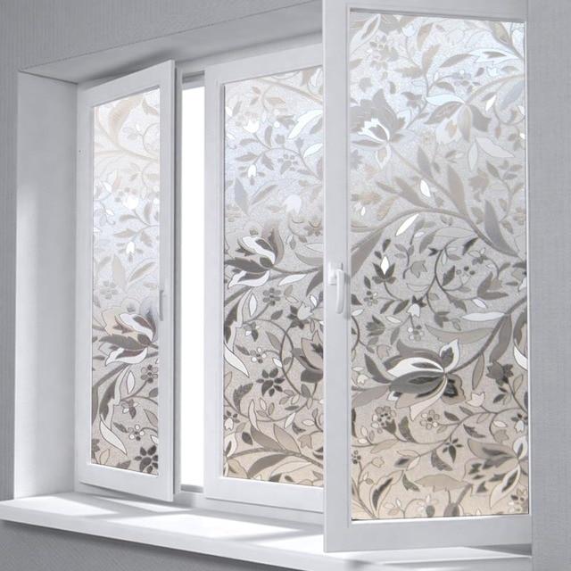 0 7x10m 3d static cling decorative window film tulip flower privacy etched glass vinyl window sticker