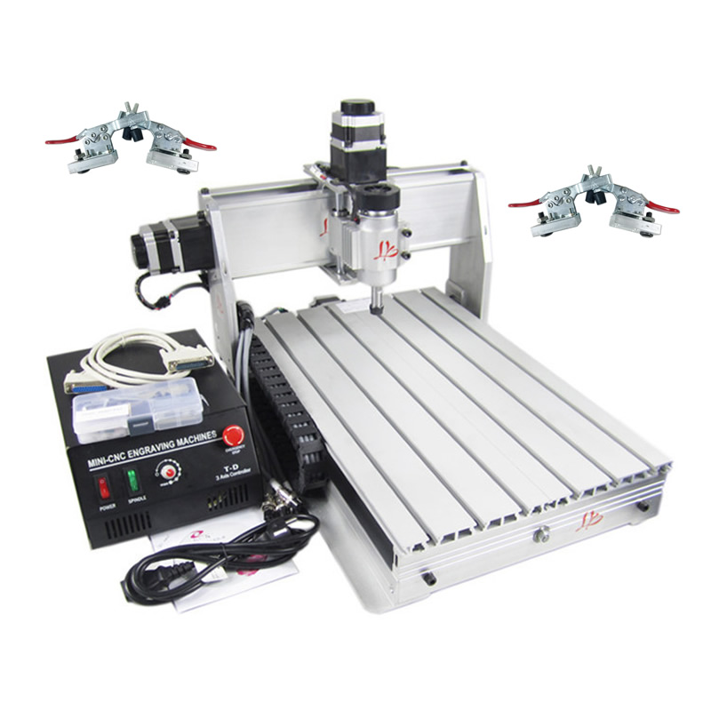 Russia No Tax! CNC 3040 CNC Machine User-friendly Wood CNC Milling Machine with free 4 pcs Plain Vice russia no tax 1500w 5 axis cnc wood carving machine precision ball screw cnc router 3040 milling machine