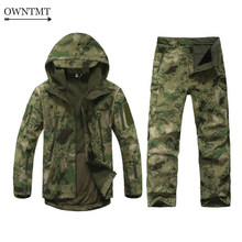Tactische Uniform Outdoor Sport Softshell TAD Tactische Sets Mannen Militaire Camouflage Jas + Broek Waterdicht Winddicht Jacht Pak(China)