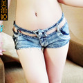 1PCS Sexy Hollow Micro MINI Jeans Hot Shorts Ripped Low Rise Waist Booty Short  High Cut Booty Short Shorts FX1135