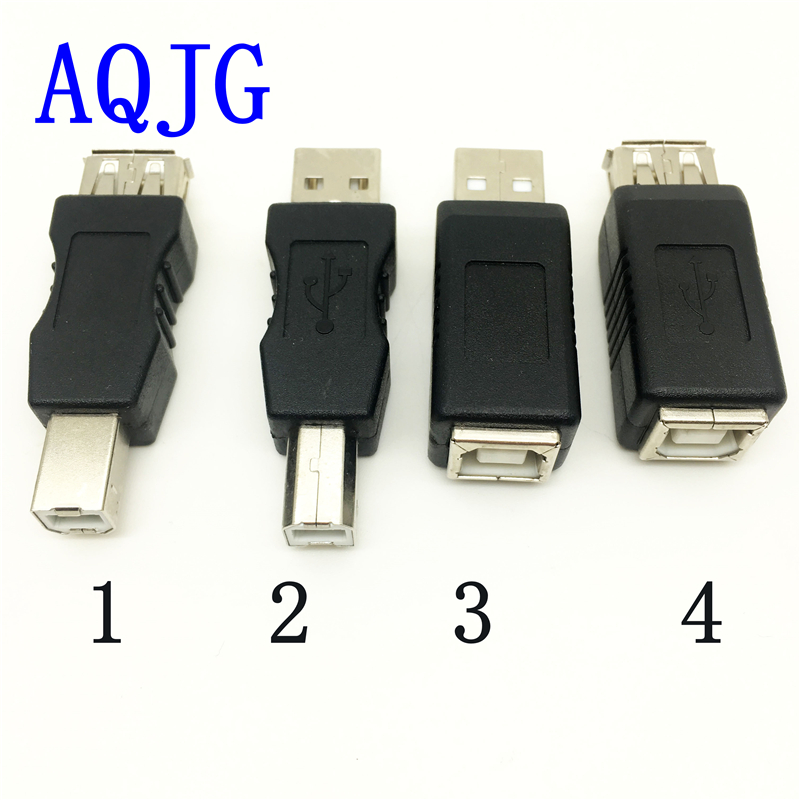 USB 2.0 A Female to USB B printer print converter adapter male to female USB connector USB 2.0 connector AQJG 10pcs g45 usb b type female socket connector for printer data interface high quality sell at a loss usa belarus ukraine