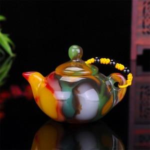 Image 4 - שינג יאנג גובי ירקן צבעוני אגת יד מגולף דבר משחק קסם סיר אוסף קישוט מתנה Dropship