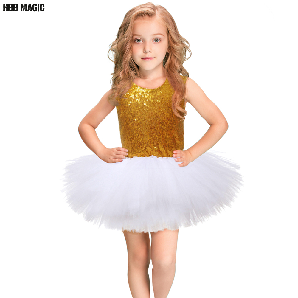 Girls Tulle Princess Dress Gold Sequins Girl Wedding Ball Gown Dress Sleeveless Kids Girl Birthday Party Tutu Dress Costume 2-8Y 2017 new flower lace girls dress princess dresses solid wedding dress girl clothing sleeveless ball gown girl costume kids ds003