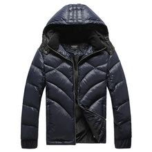 Lesmart Men's Winter Coat Jacket Outerwear Business Casual Fashion Solid Slim Fit White Duck Down Light Leisure Parka