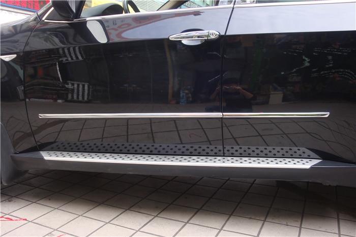 Exterior Car styling Car Body Decorative Cover for BMW X5 E70 2011 2012 Side door molding trim streamer trim Stainless steel stainless steel side door molding trim cover for 2013 up subaru forester