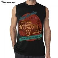 Merk mannen Vest Casual Mouwloze Auto Service & Reparatie We zijn Open Vandaag Helpen U Gedrukt Casual Zomer Vest MWCC045