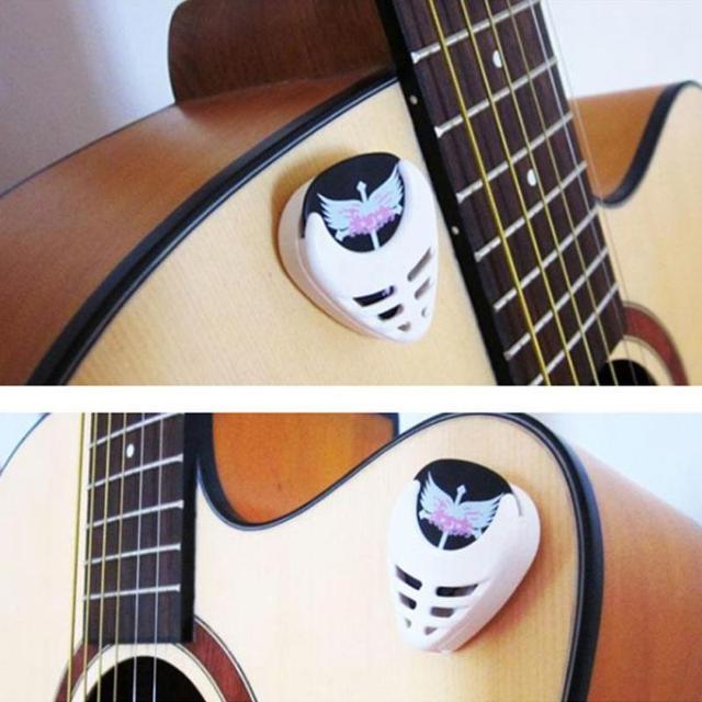 6 шт. прочный пластиковый держатель для гитары в форме сердца, набор аксессуаров, коробка для гитары, случайный цвет