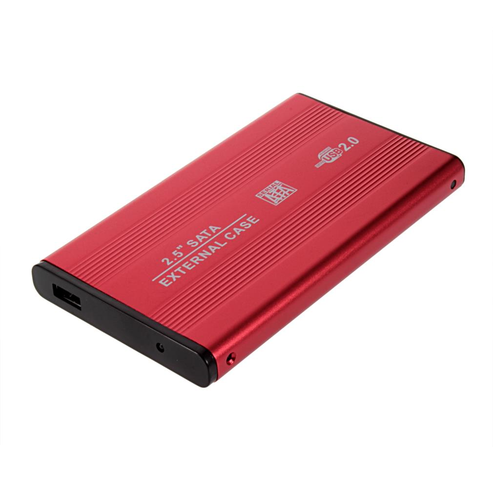 1Pcs USB 2.0 2.5 Inch SATA Enclosure External Case For Notebook Laptop Hard Disk