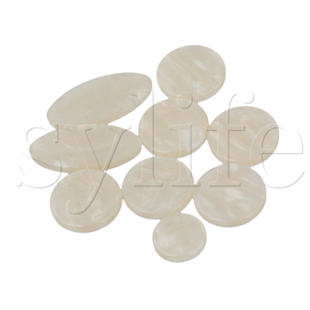NEW Plastic Saxophone Key Buttons Inlays 1 Set(9 Pcs) FOR Alto
