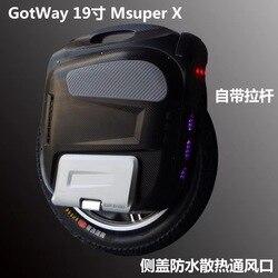 Nuevo Gotway Msuper X-S modelo 100 V 1230WH 19 pulgadas de alto rendimiento eléctrico monociclo max velocidad es de 65 km/h 2000 W motor