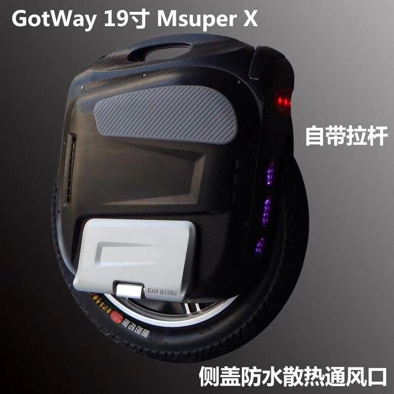 Nuovo Gotway Msuper X-S modello 100 v 1230WH, 19 pollici Ad Alta-prestazioni monociclo elettrico, la velocità massima è 65 km/h 2000 w motore