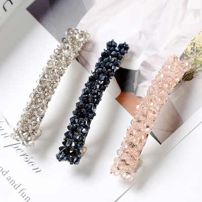 7 Colors Glitter Crystal Hairpins Headwear for Women Girls Bling Rhinestone Hair Clips Pins Barrette Styling Tools Accessories