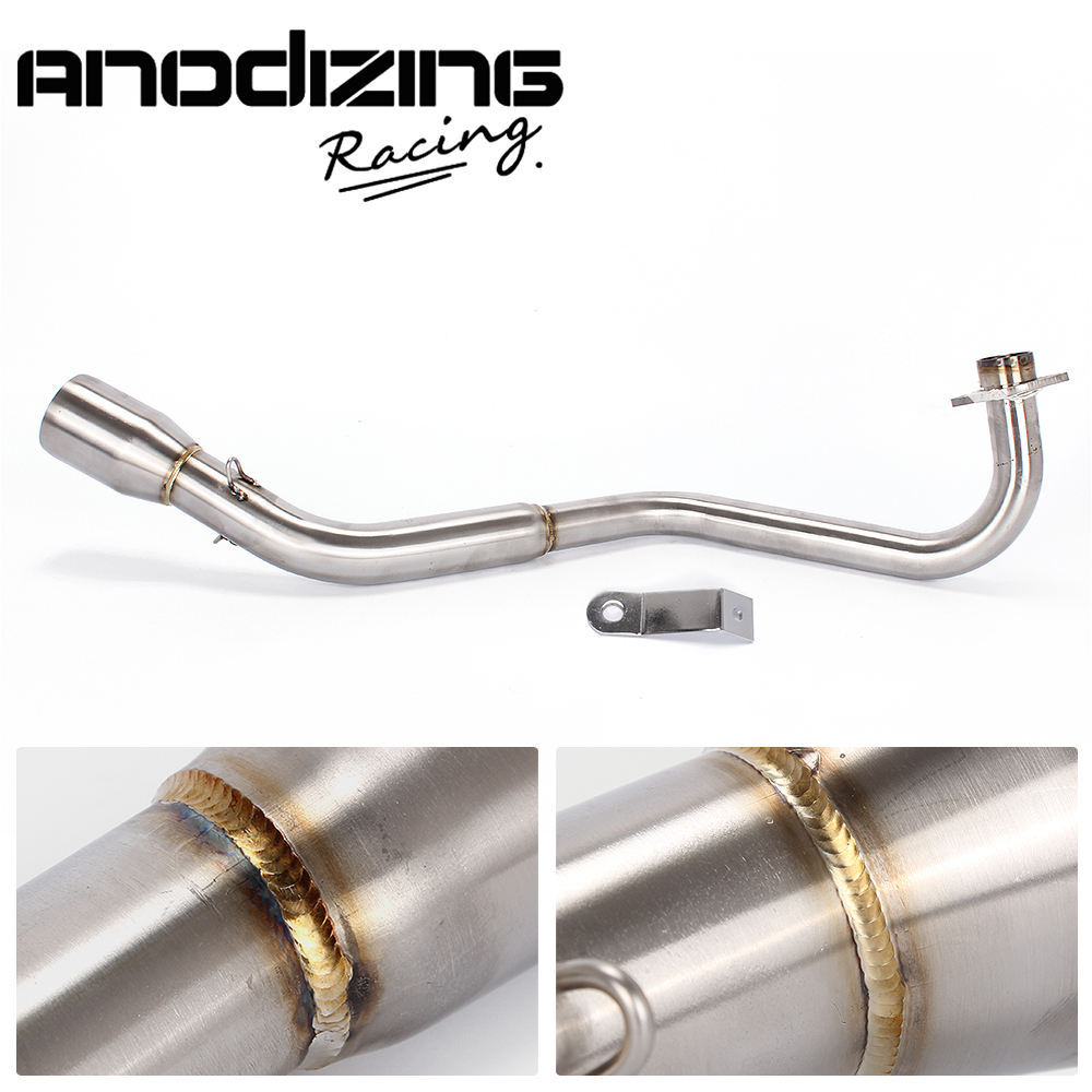Motorcycle exhaust header pipe modified stainless steel roundabout middle pipe For HONDA GROM MSX125 2013-2018 Slip-On