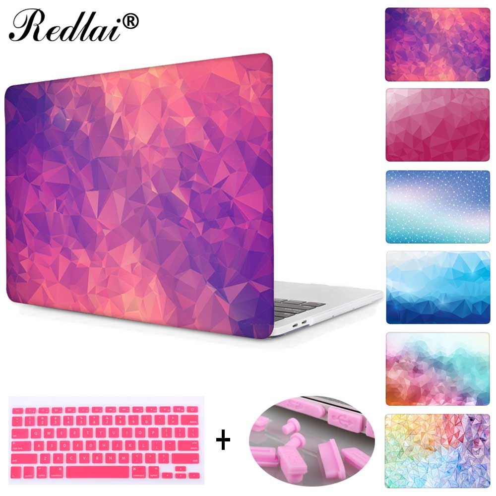 Laptop Case For Apple MacBook Air Pro Retina 11 12 13 15 For Mac Book New Pro 13 15 with Touch Bar Geometric Print Hard Cover crystal case for apple macbook air 13 3 11 pro 13 12 15 retina laptop print cover 2016 2017 new touch bar model keyboard cover