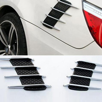 2Pcs Shark Gills Car Styling 3D Vent Air Flow Fender Sticker Decal Car Or Truck Custom